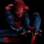 Spider-man shoots synthetic web out of machinery located at his wrists